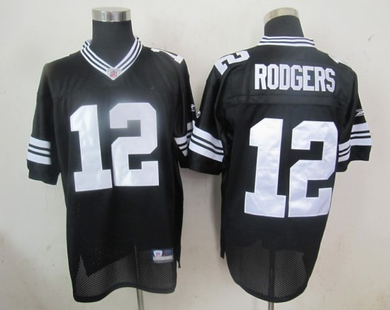 91b8d036a9ccb ... Reebok NFL Jerseys Green Bay Packers 12 Aaron Rodgers Black | by http://