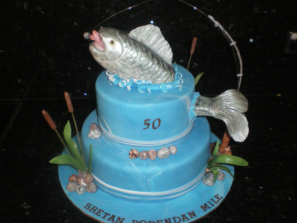 Superb Fishing Birthday Cake Chocolate Mudcake And Ganache Fish Flickr Personalised Birthday Cards Epsylily Jamesorg