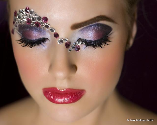 Exotic makeup portrait