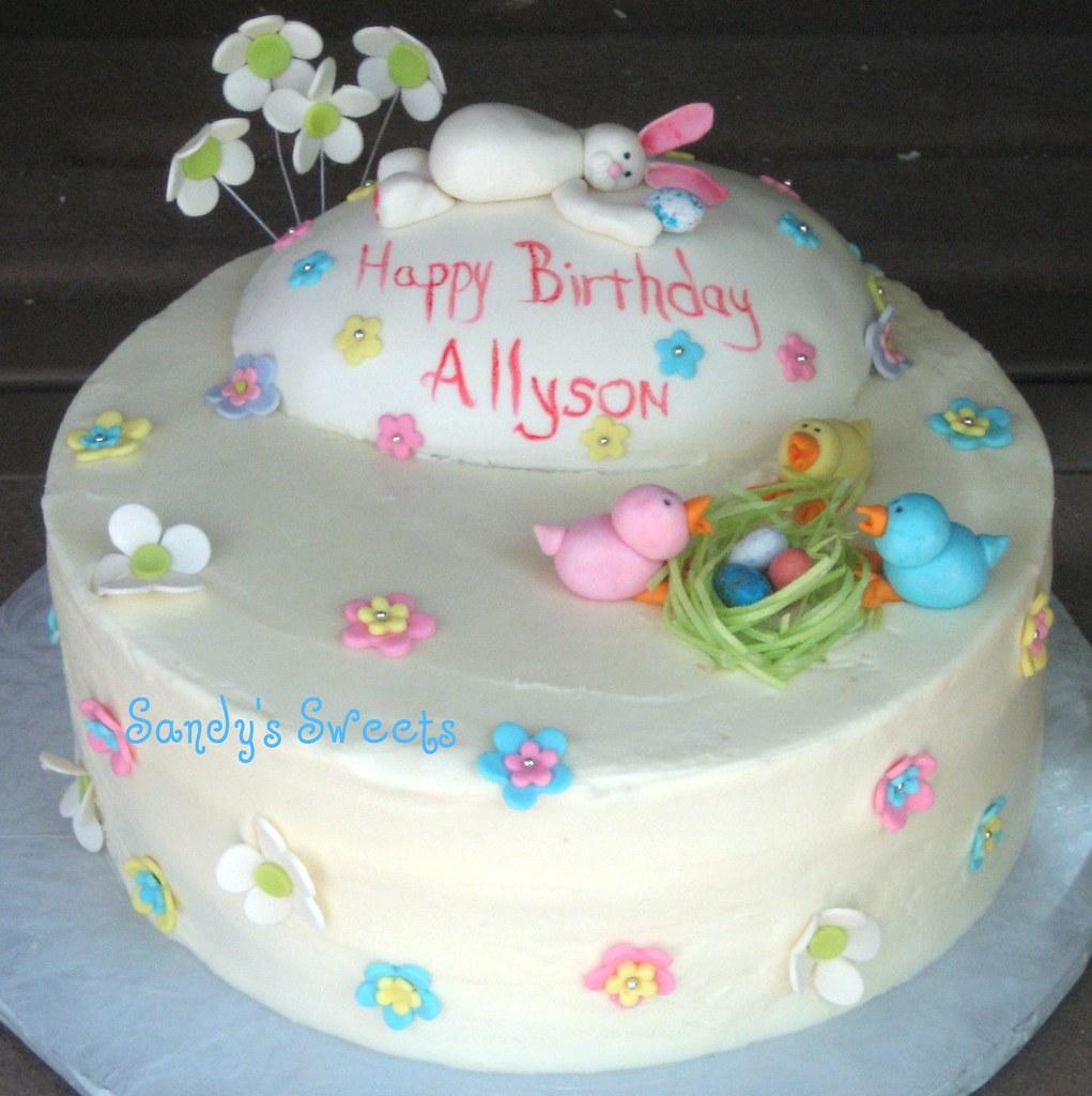 Easter Theme Birthday Cake