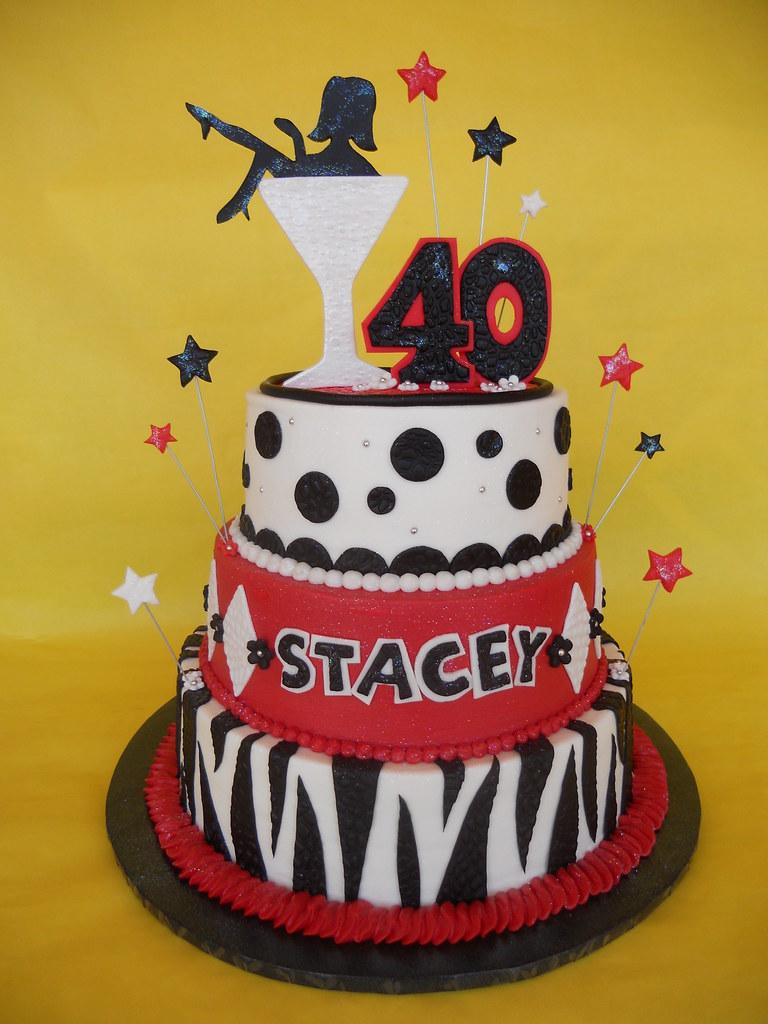 Enjoyable Martini Diva 40Th Birthday Cake Amy Stella Flickr Birthday Cards Printable Trancafe Filternl