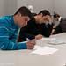 Students during examination (written exams)