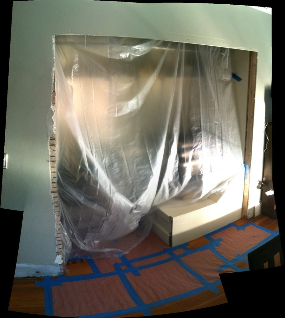 Alright closet. It's you and me and only one of us will end the week with doors. #carpentry #sillythreats