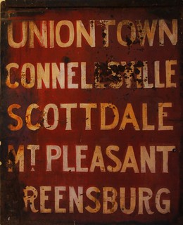 West Penn Railways Trolley Sign (Uniontown)