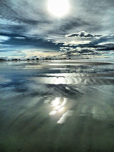 ocean sea newzealand christchurch seascape coast sand pacific awesome dramatic canterbury coastal nz southisland ripples lowtide seashore hdr stevetaylor