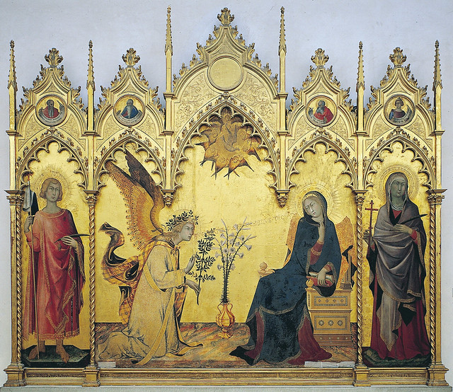 Simone Martini & Lippo Memmi - Annunciazione (1333)