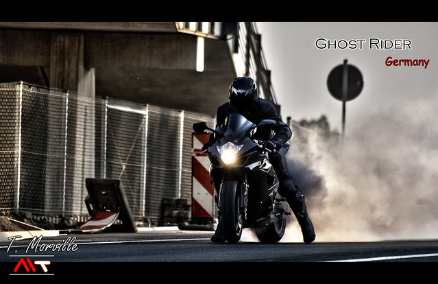 Burn by Ghost Rider on GSX-R 1000 (HDR) ... In street of Germany !