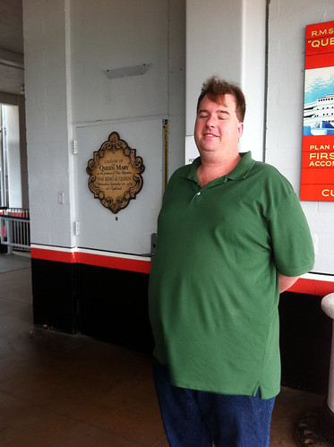 Queen Mary - Mike Outside Our 'Secret' Door | by Miss Shari