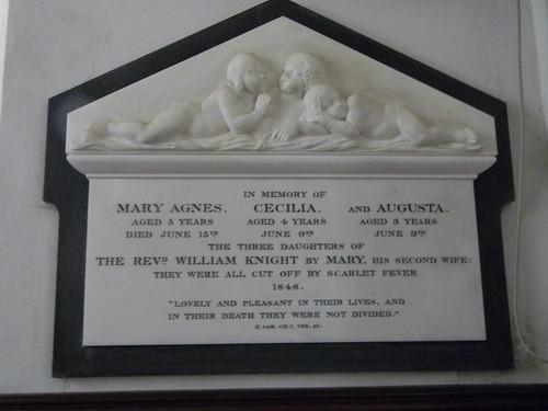 Sombre plaque Steventon Church Overton Circular