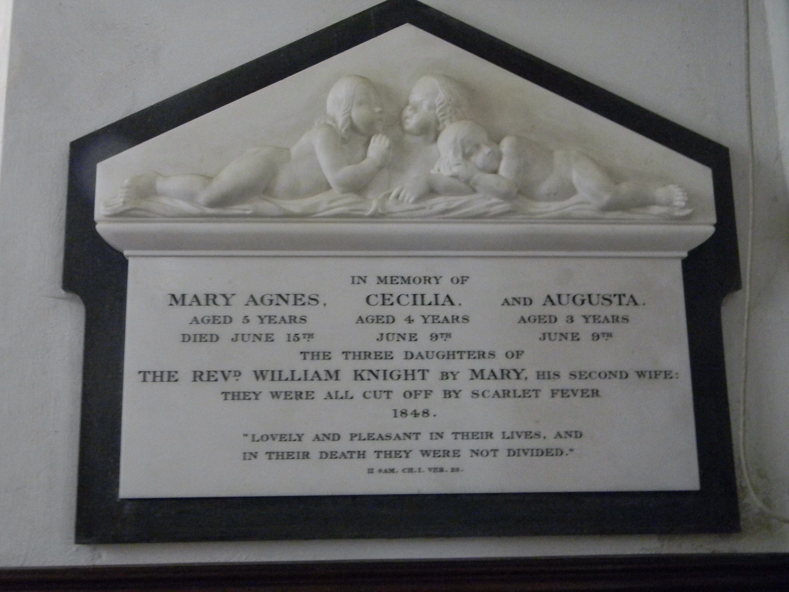 Sombre plaque Steventon Church Overton Circular