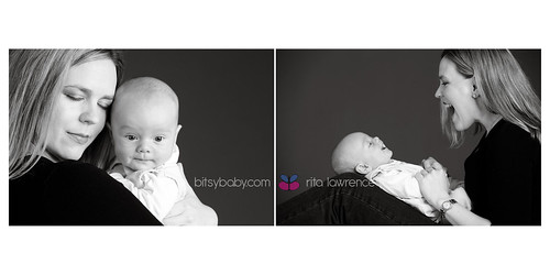 baby photography studio black and white | by Bitsy Baby Photography [Rita]