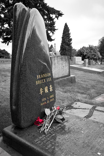Brandon Lee's grave | by mfeingol