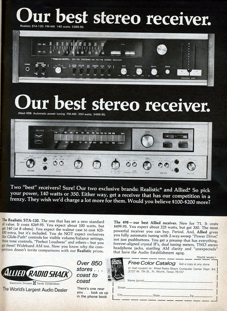 Allied Radio Shack Receivers 1971 | I'd forgotten about Alli