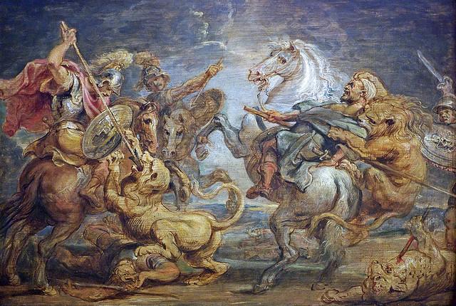 after Rubens - Lion hunt