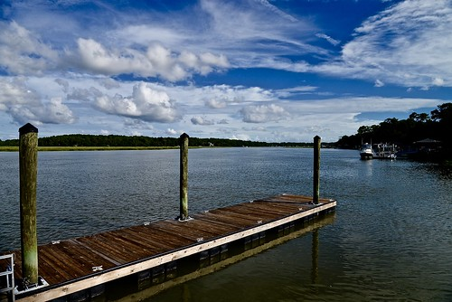 carolinas southcarolina south beaufort beaufortcounty dock pier water river batterycreek creek bluesky sky clouds cloud wood nikon nikon2485 nikond610 summer august 2016 boat marsh