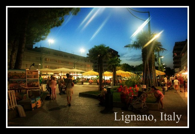 Lignano Beach night