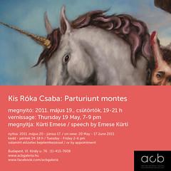 2011. május 9. 16:06 - Kis Róka Csaba: Parturiunt montes