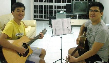 1 to 1 guitar lessons Singapore Ian