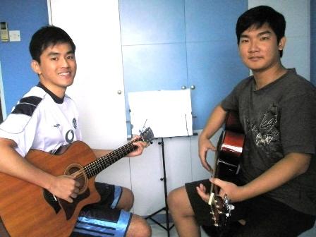 Private guitar lessons Singapore Joshua