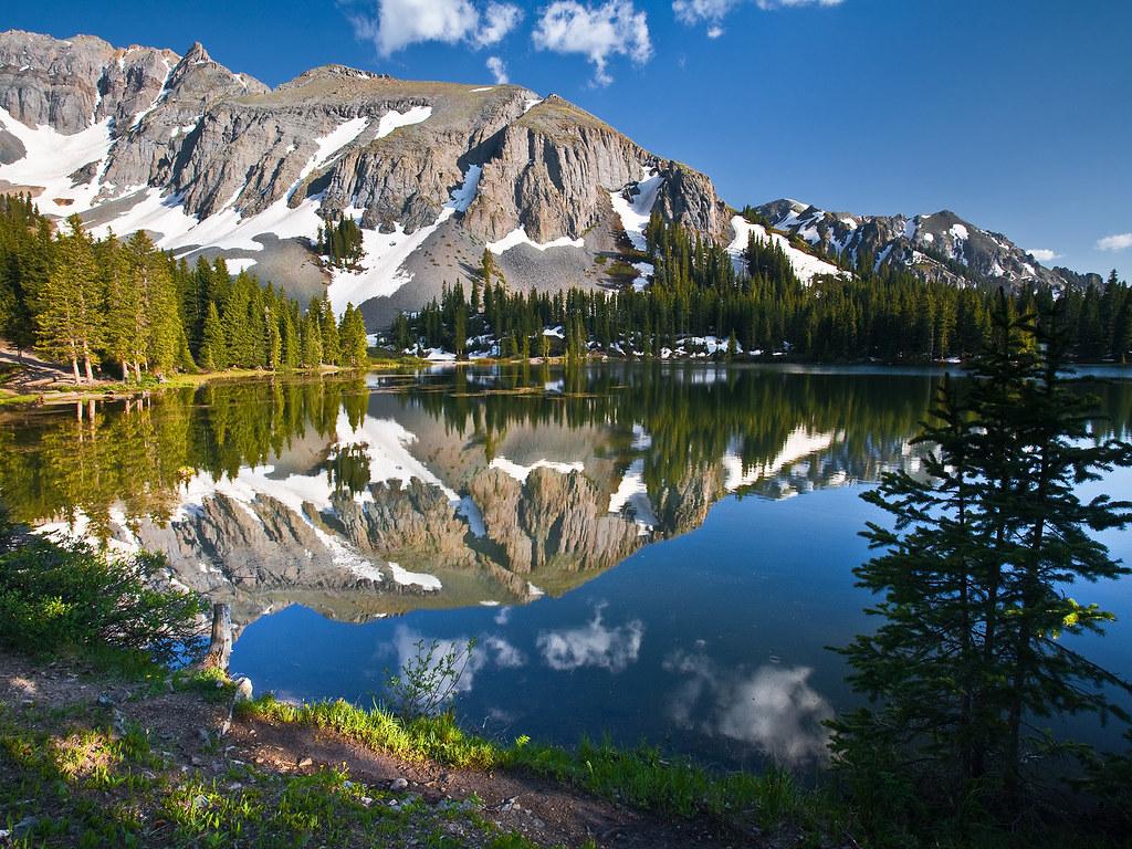 Alta Lake Rocky Mountains Colorado Silver Mountain In Th Flickr