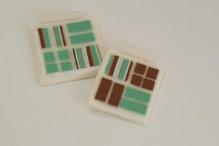 Polymer Clay Mosaic Pendants