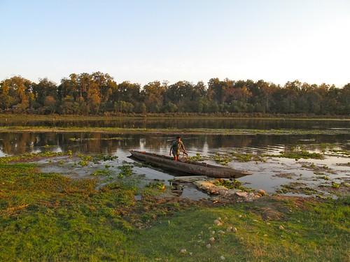 world park nepal sunset forest river boat asia safari national chitwan 2011 narayani