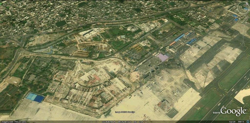 kolkata airport terminal map Kolkata Airport New Terminal Under Construction Google E Flickr kolkata airport terminal map