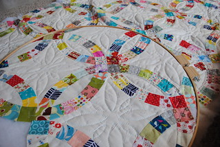 Double Wedding Ring quilt | by quarter inch mark/ Chase