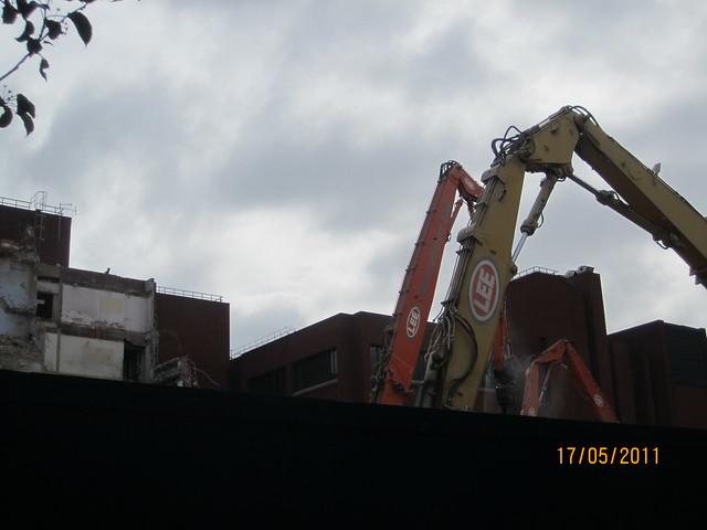 Demolition in Progress Leman St Nat West Bank E1