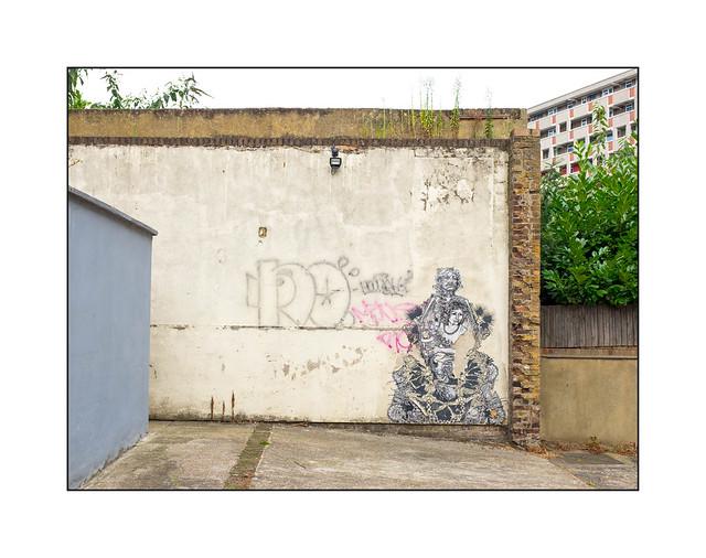 Street Art (Swoon), East London, England.