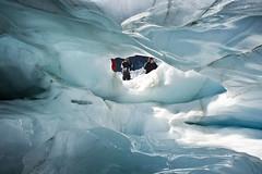 Desde dentro del glaciar Fox, NZ