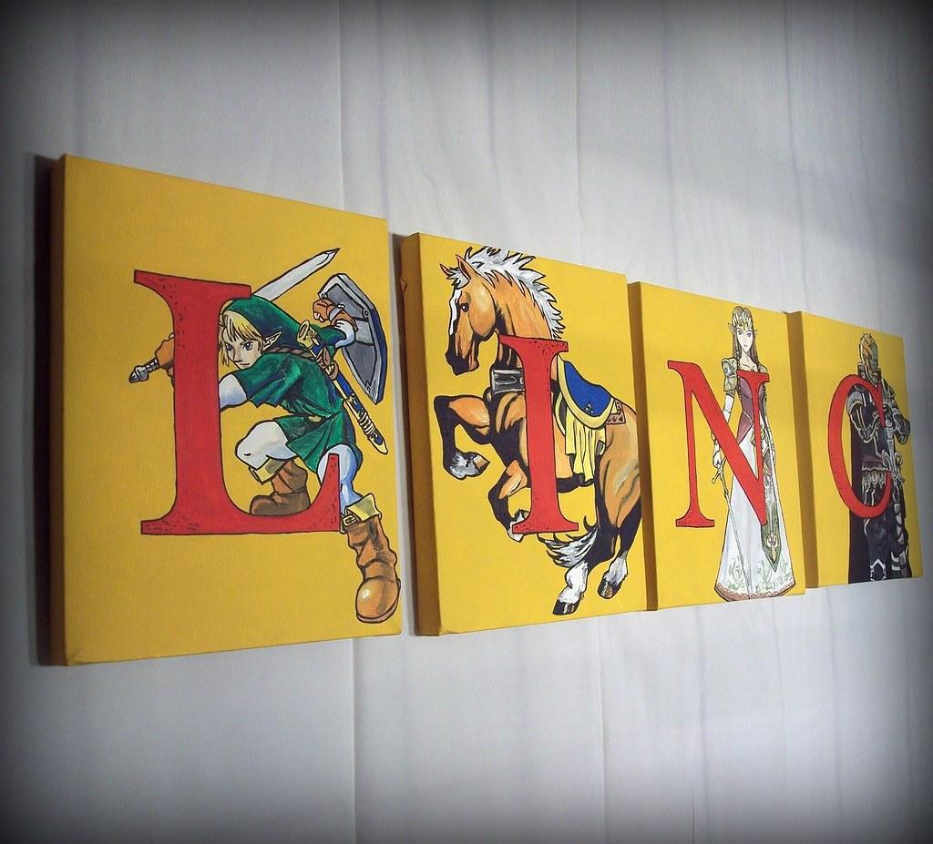 Legend Of Zelda Name Wall Art Art For Children Letter Pai Flickr