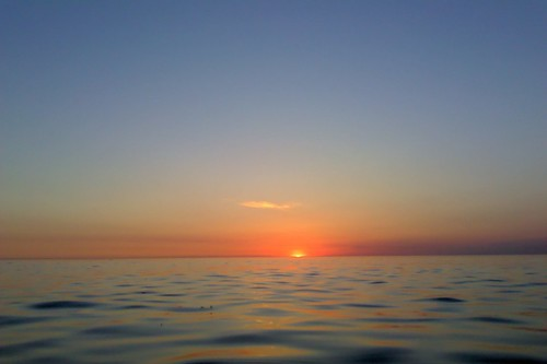 ocean sea water sunrise island long calm sound