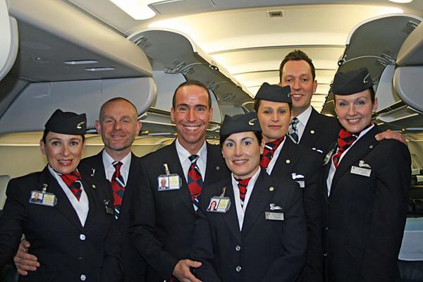 British Airways Cabin Crew in flight | For more updated pict