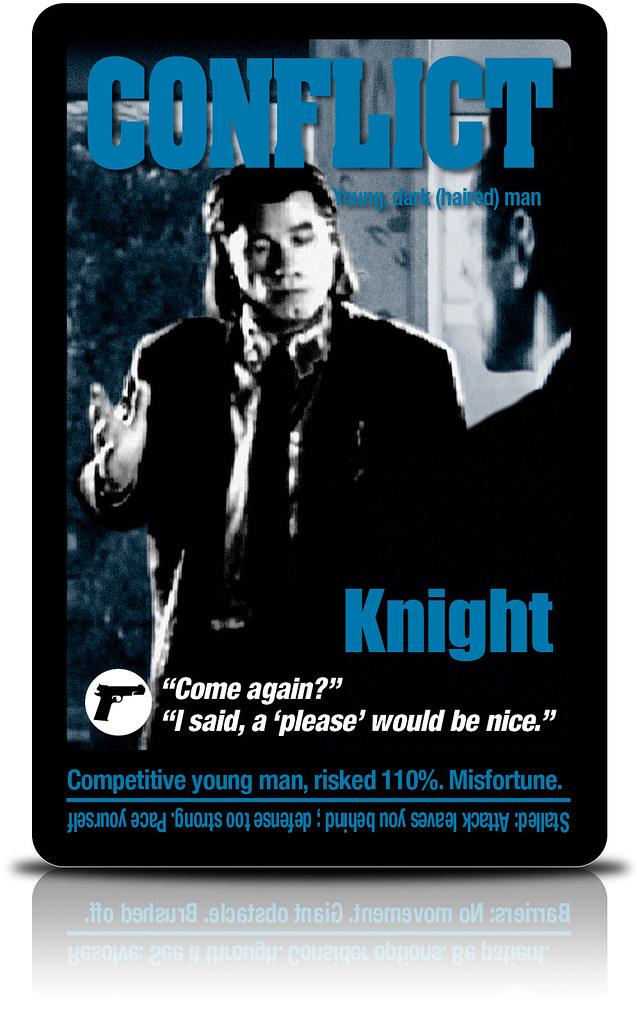 Pulp Fiction Tarot: Knight of Swords | Pulp Fiction Tarot: K