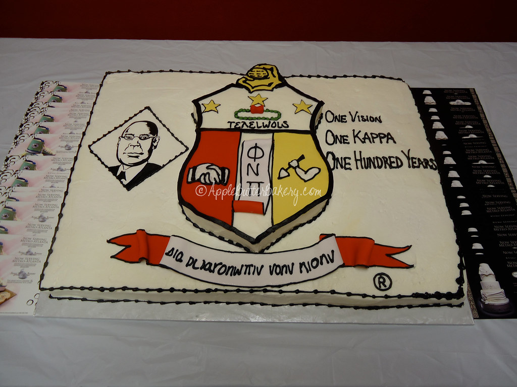 Kappa Alpha Psi Sheet Cake | The founder's portrait was hand