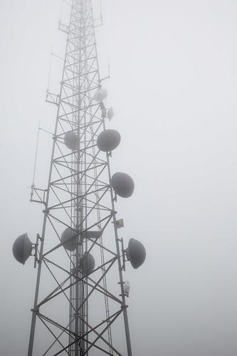 cloud mist monochrome fog day antenna
