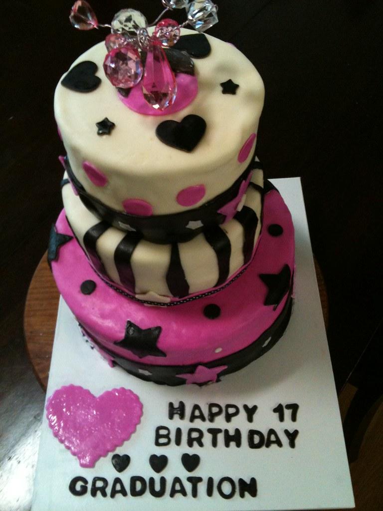 Strange Dual Graduation Birthday Cake Cake Was For 2 Best Friends Flickr Personalised Birthday Cards Akebfashionlily Jamesorg