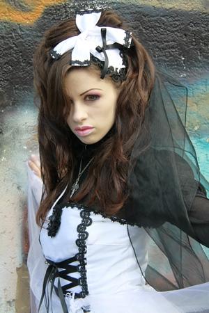 Goth Girl in White