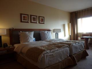 Abuja hotel room   by Bryn Pinzgauer