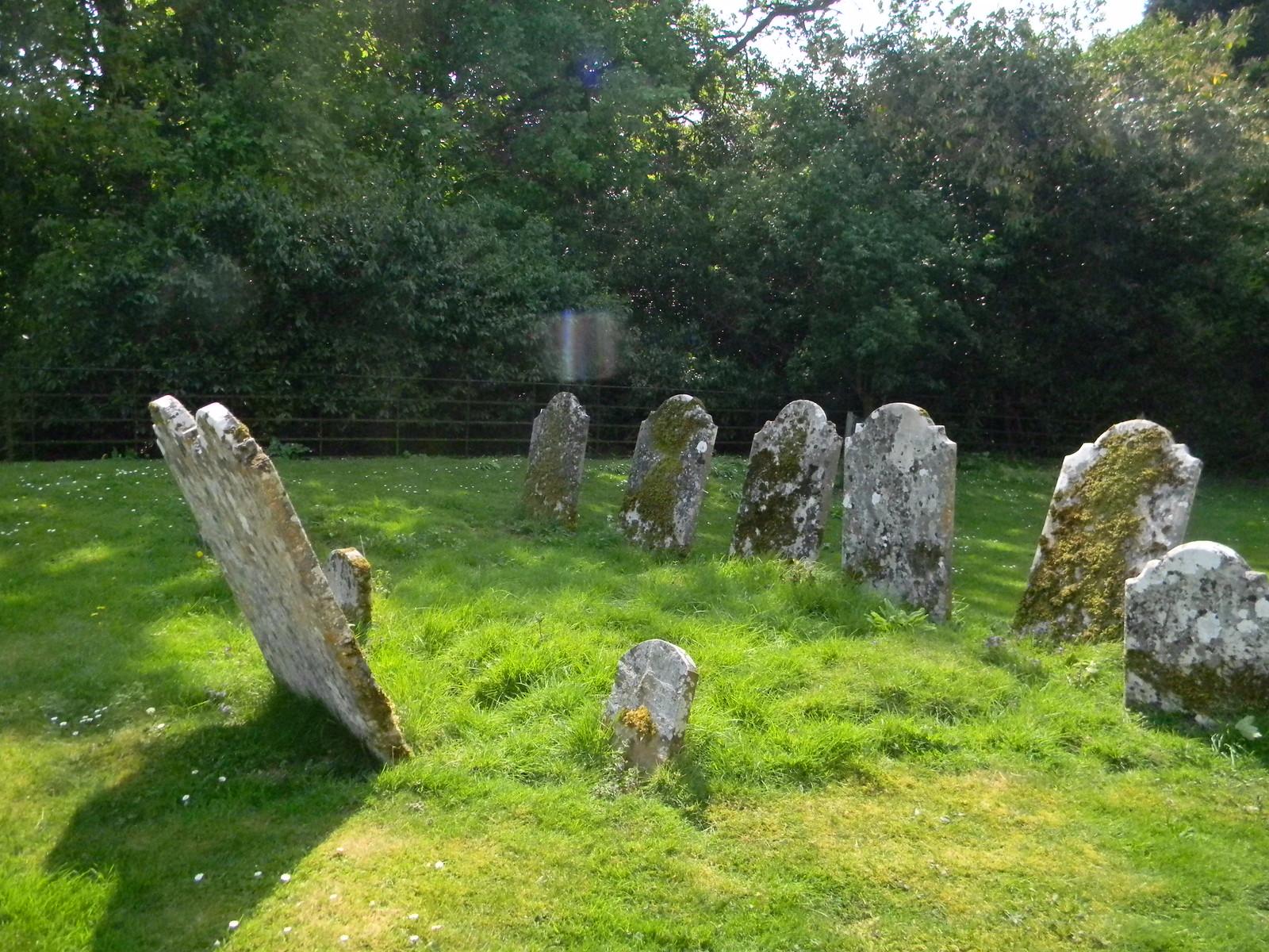 Weathered stones Steventon Church Overton Circular