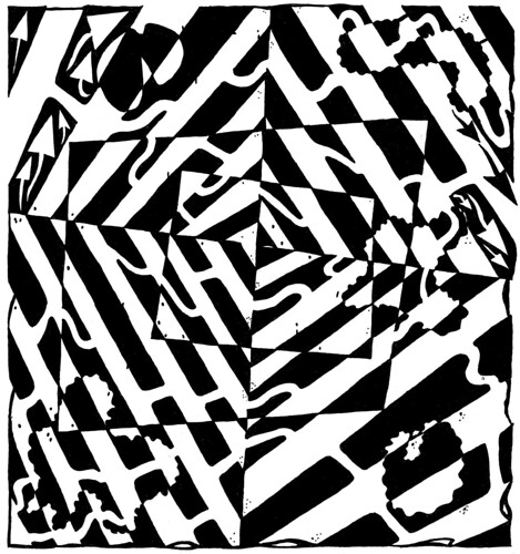 chaos-optical-illusion-maze-yonatan-frimer-mazes | by yfrimer