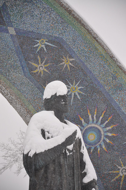 Dushanbe - Rudaki Monument - Winter Time