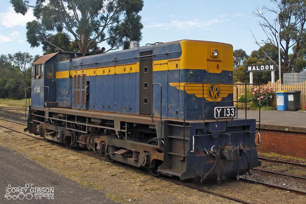 Y133 at Maldon - Victorian Goldfields Railway by Corey Gibson