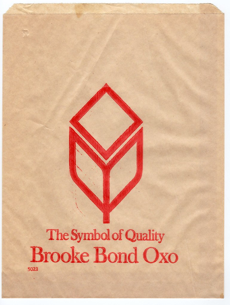 1969-Brooke Bond Oxo paper bag | This paper bag shows the co
