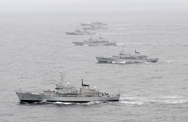 The fleet carrying out further joint manouevres