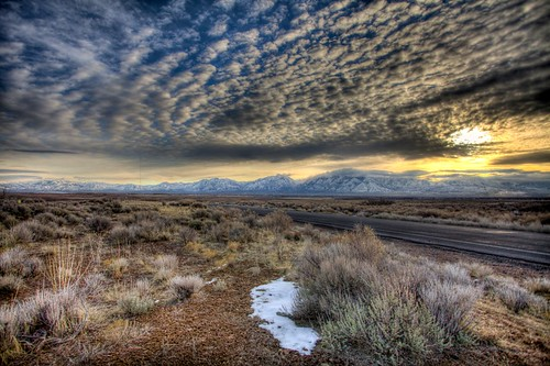 road nature sunrise landscape utah desert hdr sagebrush u111