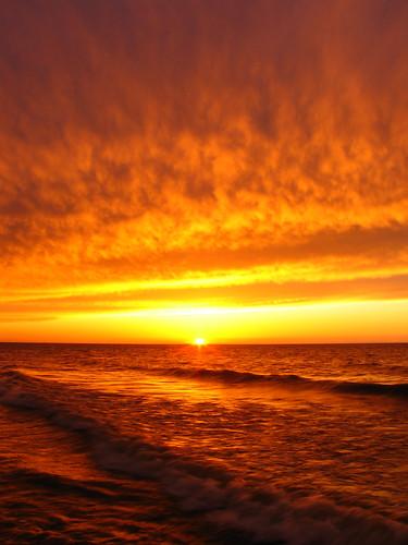 sunset ohio orange spring waves lakeerie fb 27 saybrook ashtabulacounty