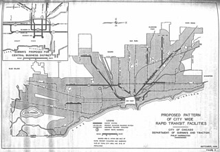 Proposed Pattern of City Wide Rapid Transit Facilities, City of Chicago Department of Subways and Traction (1939)