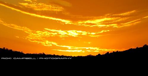sunset fisheye
